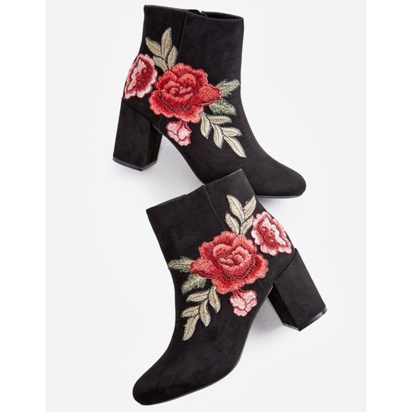 JustFab Shoes - Embroidered Booties